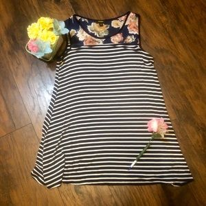 🌸 5 for $20 SALE Floral and striped  mini dress